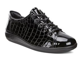 Ecco Shoes - Soft 2.0 206503 Black Croc