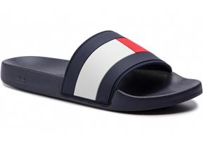 Tommy Hilfiger Sandals - Essential Flag Pool Slide Navy Multi