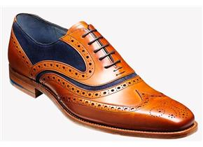 Barker Shoes - McClean Cedar / Blue Suede