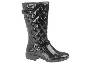 Cats Eye Boots - G755 Black Patent