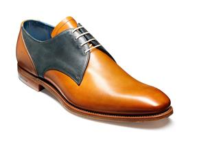 Barker Shoes - Alvis Cedar/Blue