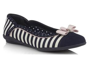 Ruby Shoo - Lizzie Navy Stripe