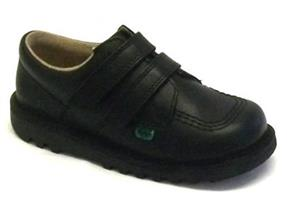 Kickers Shoes - Kick Lo Velcro Black