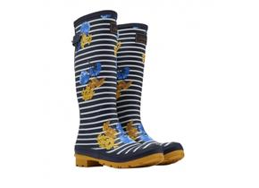 Joules Wellingtons - Navy Lily Stripe