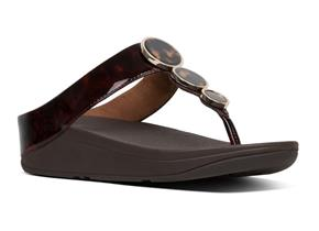 FitFlop™ Sandals - Halo™ Tortoiseshell Chocolate