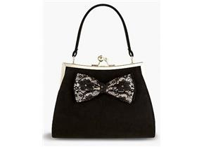 Ruby Shoo Bags - Logan Black Lace