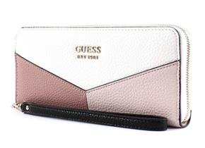 Guess Purses - Colette Large Zip Around Stone Multi