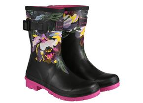 Joules Wellingtons - Molly Black Floral Black Multi