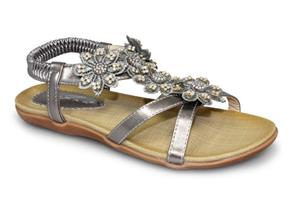 Lunar Sandals - Fiji JLH664 Pewter