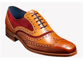Barker Shoes - McClean Tan/Red