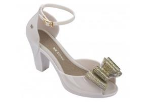 Zaxy Shoes - Diva Bow 2 Gold Glitter