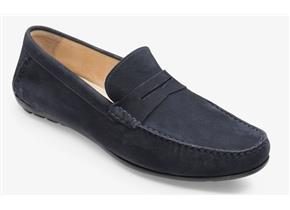 Loake Shoes - Goodwood Navy Suede