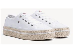 Tommy Hilfiger Shoes - Jute Detail Flatform White