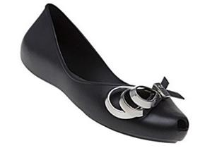 Zaxy Shoes - Luxury Ribbon Black Silver