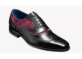 Barker Shoes - McClean Black/Red