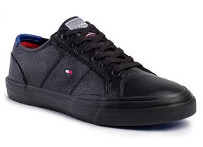 Tommy Hilfiger Shoes - Core Corporate Flag Sneaker Black