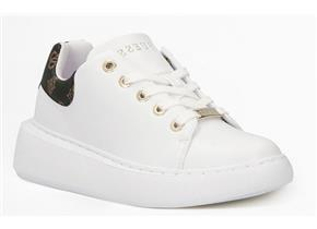 Guess Trainers - Bradley White Brown Logo