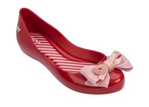 Zaxy Shoes - Kids Ribbon Bow Red
