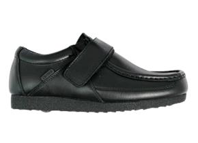 Deakins Shoes - Cadey Velcro Jnr Black