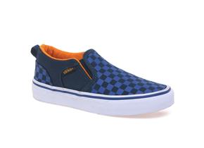 Vans Shoes - Asher Check Blue Multi
