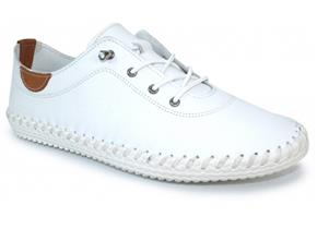Lunar Shoes - St Ives FLE030 White