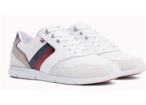 Tommy Hilfiger Sneakers - Leather Light Sneakers White Red Blue