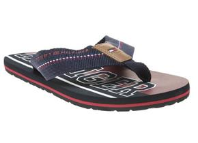 Tommy Hilfiger Sandals - Stripe Beach Sandals Navy