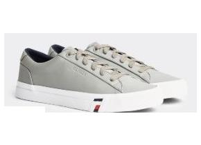 Tommy Hilfiger Shoes - Corporate Leather Sneaker Antique Silver