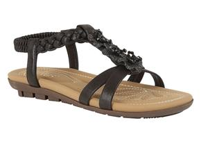 Lotus Sandals - Margarita Black
