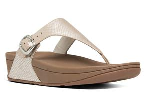 FitFlop™ Sandals - TheSkinny Snake Silver