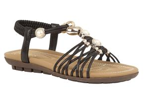 Lotus Sandals - Marci Black