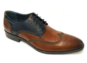 Azor Shoes - Missori Tan Navy