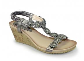 Lunar Sandals - Cally JLH780 Pewter
