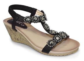 Lunar Sandals - Cally JLH780 Black