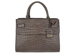 Guess Bags - Cate Satchel Taupe Croc