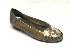 Zaccho Shoes - 4569 Pewter/Gold