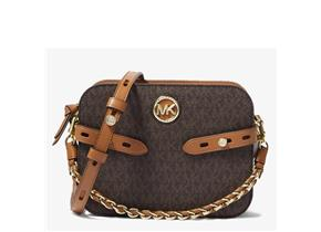 Michael Kors Bags - Carmen Camera LG Crossbody Brown