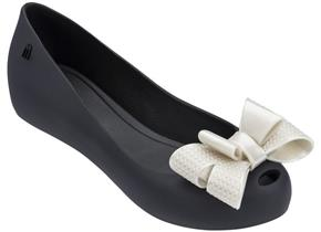 Melissa Shoes - Ultra Girl Rattan Bow Black Contrast