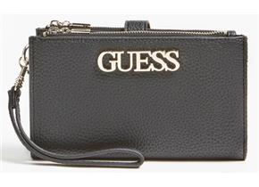 Guess Purses - Uptown Chic Slg Double Zip Organiser Black