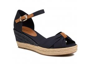 Tommy Hilfiger Shoes - Basic Open Toe Mid Wedge Navy