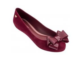 Zaxy Shoes - Pop Flock Bow Luxe Cranberry