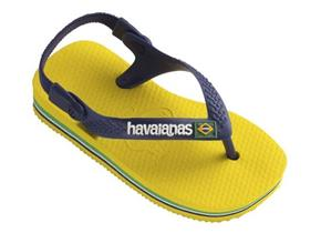 Havaianas Sandals - Brasil Baby Navy Yellow