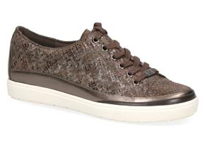 Caprice Shoes - 23654-25 Dark Grey Reptile