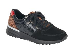 Rieker Shoes - N8024 Black Leopard