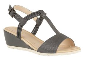 Lotus Sandals - Kiera Pewter