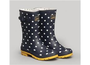 Joules Wellingtons - Molly French Navy Spot