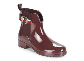 Tommy Hilfiger Boots - Corporate Short Belt Boot Burgundy