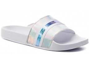 Tommy Hilfiger Sandals - Pool Slide Shiny Iridescent White