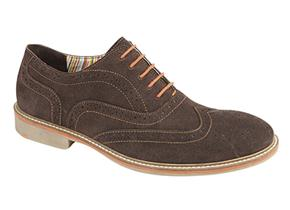 Roamers Shoes - M480 Brown Suede