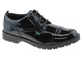 Kickers Shoes - Lachly Lace Black Patent